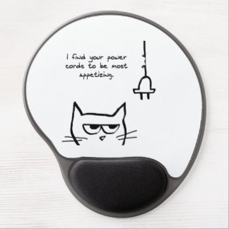 Angry Loves to Chew Your Power Cords Gel Mousepad