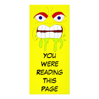 Angry Mad Face Bookmark Template Rack Card Template