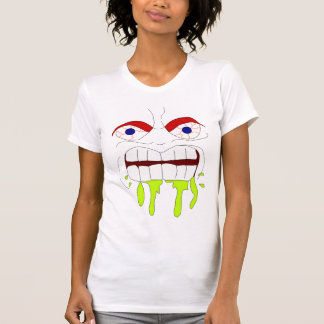Angry Mad Face Women Destroyed T-Shirt
