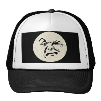 Angry Man in the Moon Face Trucker Hat