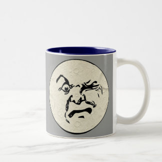 Angry Man in the Moon Face Mug
