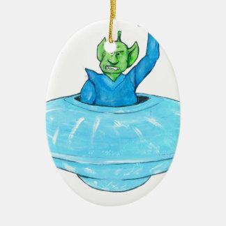 Angry Martian Ceramic Ornament