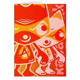 Angry Mascot Card