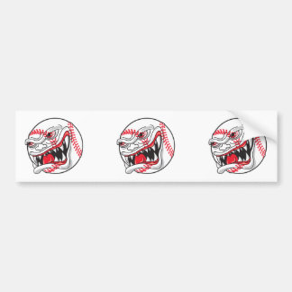 angry mean baseball graphic bumper stickers