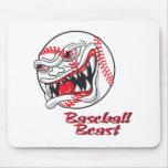angry mean baseball vaseball beast mousepad