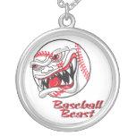 angry mean baseball vaseball beast pendant