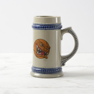 angry mean basketball beer stein