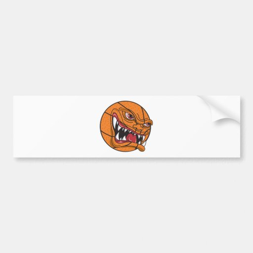 angry mean basketball car bumper sticker