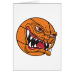 angry mean basketball greeting card