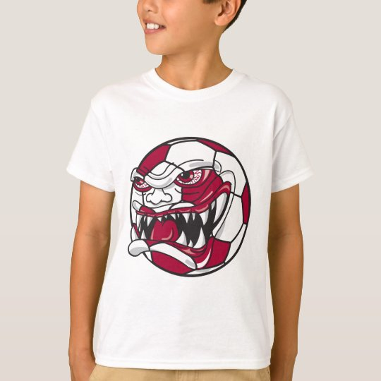 angry mean extreme soccer ball graphic T-Shirt