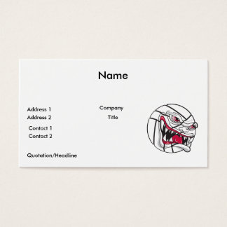 angry mean volleyball extreme business card