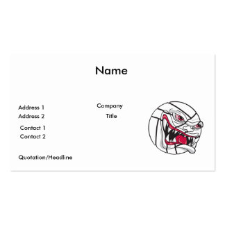 angry mean volleyball extreme Double-Sided standard business cards (Pack of 100)