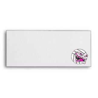angry mean volleyball extreme pink girls envelope