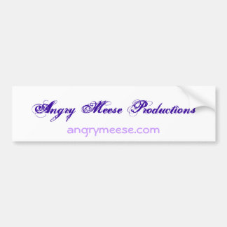 Angry Meese Productions Bumpy! Bumper Sticker