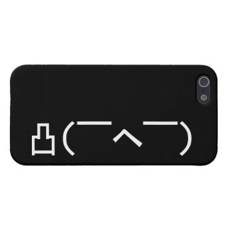 Angry Middle Finger Emoticon Japanese Kaomoji Case For iPhone SE/5/5s