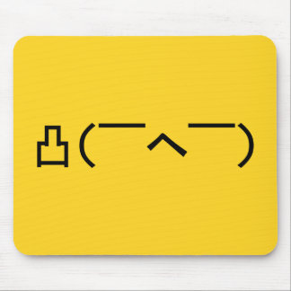 Angry Middle Finger Emoticon Japanese Kaomoji Mouse Pad