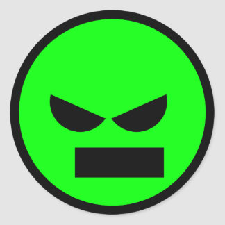 Angry Mister Anti-Smiley Face Sticker