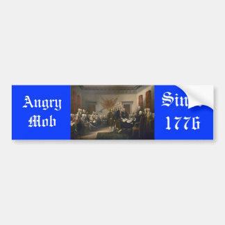 Angry Mob Bumper Sticker