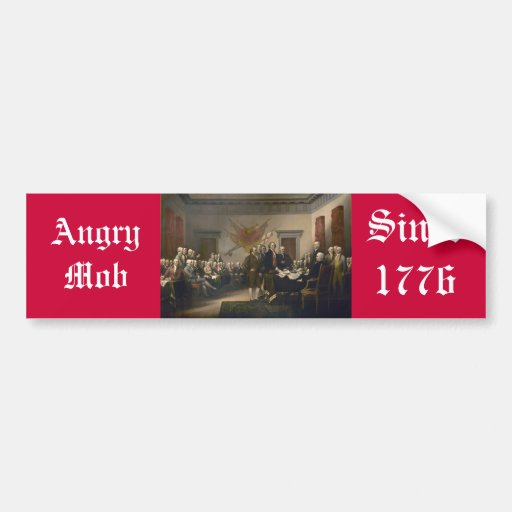 Angry Mob Car Bumper Sticker