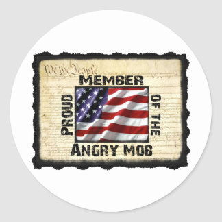 Angry Mob Gear Classic Round Sticker