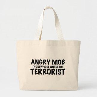 ANGRY MOB LARGE TOTE BAG
