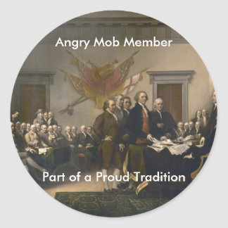 Angry Mob Member Classic Round Sticker
