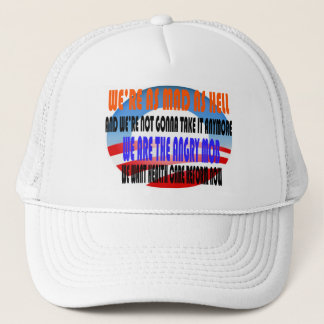 ANGRY MOB OBAMA TRUCKER HAT