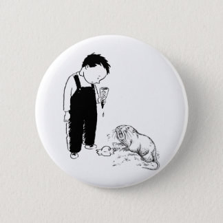 Angry Moles Eat Ice Cream Too Pinback Button