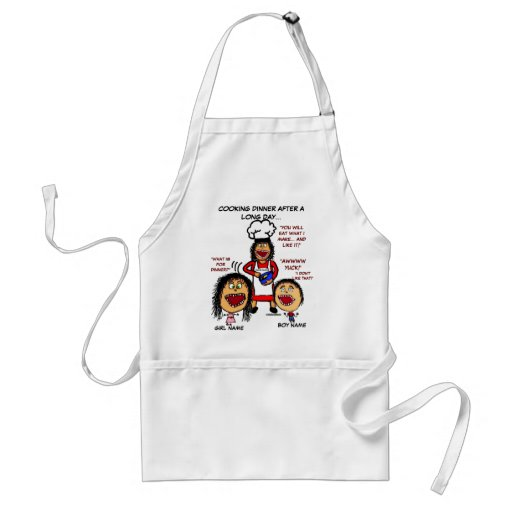 Angry Mom Cooking Cartoon Apron