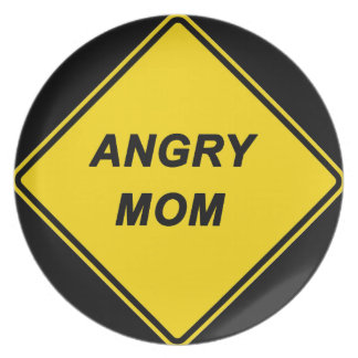 """Angry Mom"" design Dinner Plate"