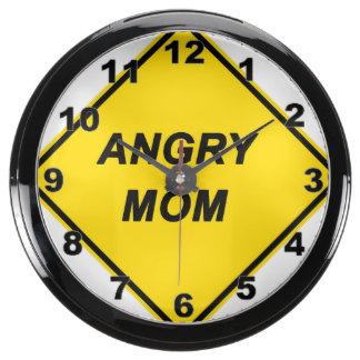 """""""Angry Mom"""" design wall clock Aqua Clock"""