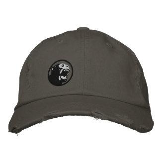 Angry Monkee Hat - Black/Dark Grey