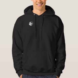 Angry Monkee Hoody - Black/White Logo