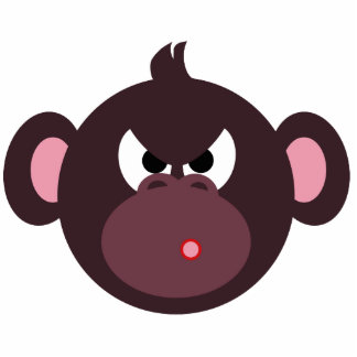 Angry Monkey pin Statuette