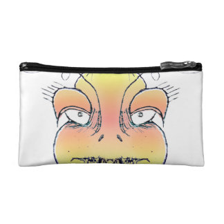 Angry Monster Portrait Drawing Cosmetic Bag