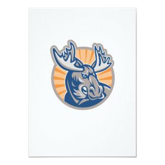 Angry Moose Mascot Retro 4.5x6.25 Paper Invitation Card