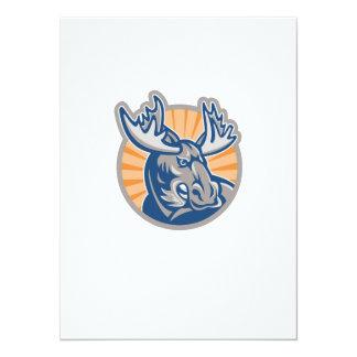 Angry Moose Mascot Retro Personalized Invites
