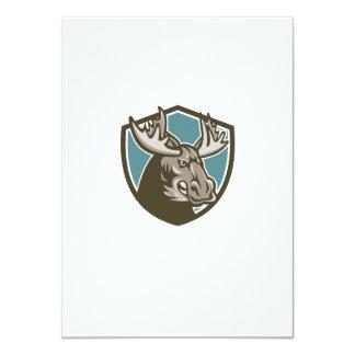 Angry Moose Mascot Shield 4.5x6.25 Paper Invitation Card