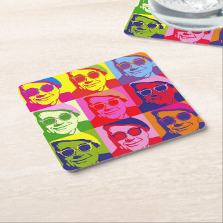 Angry Mosaic Square Paper Coaster
