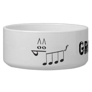 Angry Music - Groovy Licks Dog Food Bowls