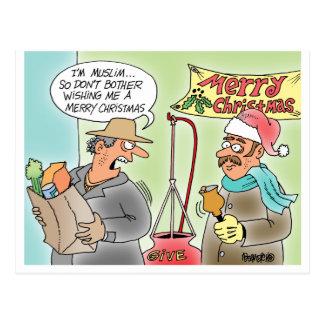Angry Muslim During Christmas Postcards