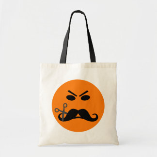 Angry Mustache Smiley bag - choose style