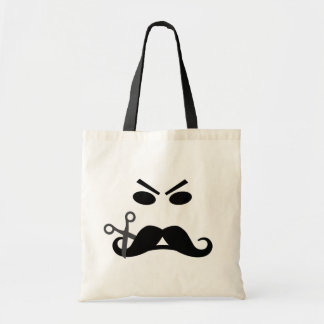 Angry Mustache Smiley bag - choose style & color