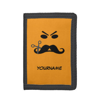 Angry Mustache Smiley custom wallets