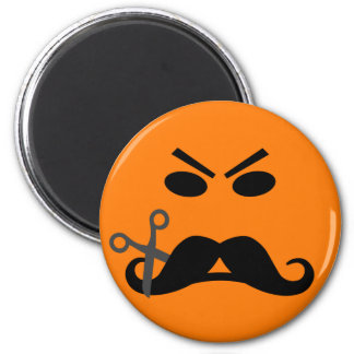 Angry Mustache Smiley magnet