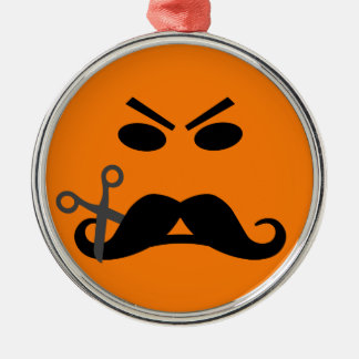 Angry Mustache Smiley ornament