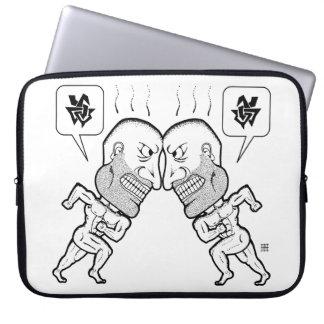 Angry Nekkid Guys Laptop Sleeve