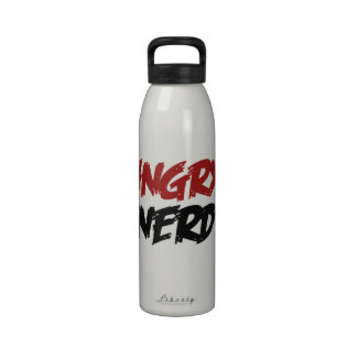 Angry Nerd Reusable Water Bottle