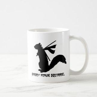 Angry Ninja Squirrel Collection Mugs