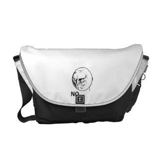 Angry No Comic Face Messenger Bag